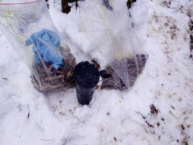 Целый склад боеприпасов нашли в лесу на Рышкановке (ВИДЕО)