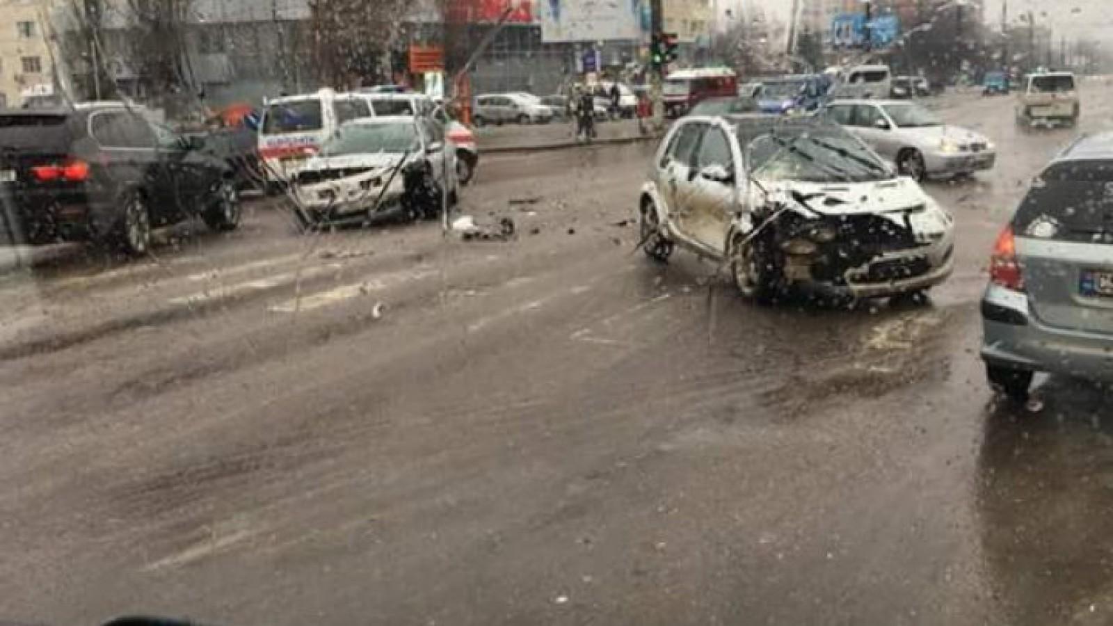 Ужасное ДТП на Алба-Юлия: в одной из машин был ребенок (ФОТО)
