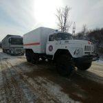 Грузовая фура не смогла преодолеть скользкий подъем и спровоцировала пробку в Приднестровье (ФОТО)
