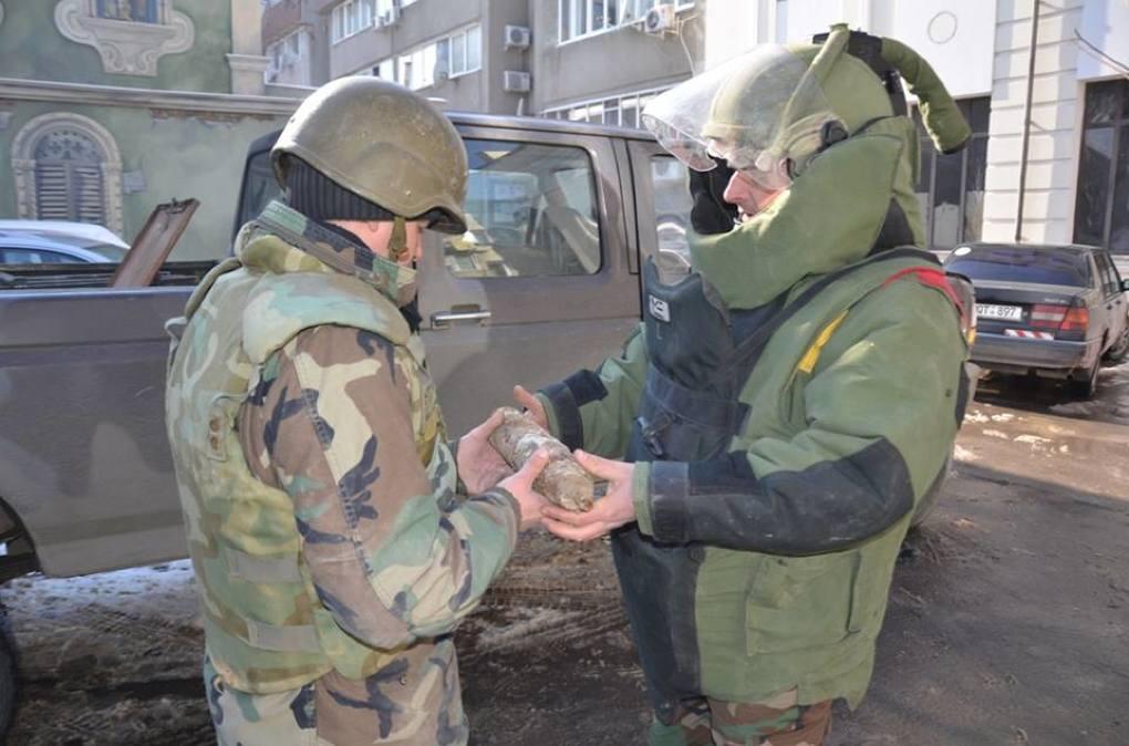 В центре Кишинева нашли снаряд времен Второй мировой войны (ФОТО)