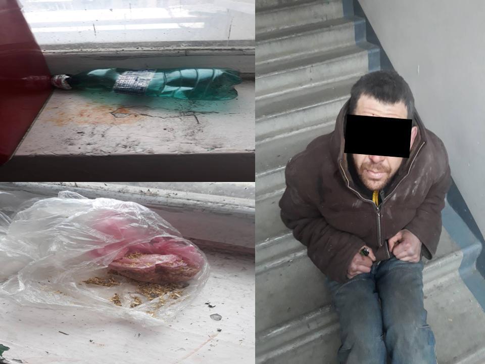 На Буюканах мужчина потреблял наркотики прямо на лестнице жилого дома