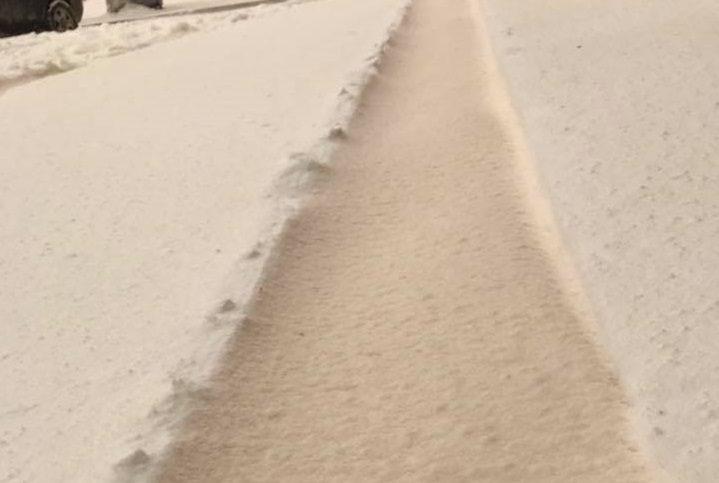 В Гагаузии выпал оранжевый снег (ФОТО)