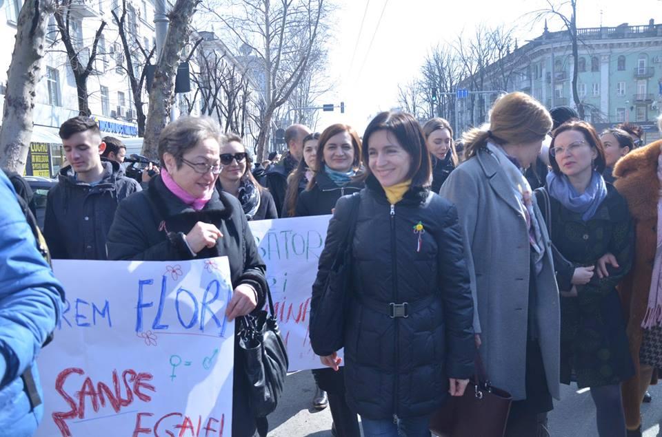 8 Марта Майя Санду приняла участие в марше защитников лесбиянок