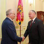 Додон обсудил текущую ситуацию в Молдове с послом России