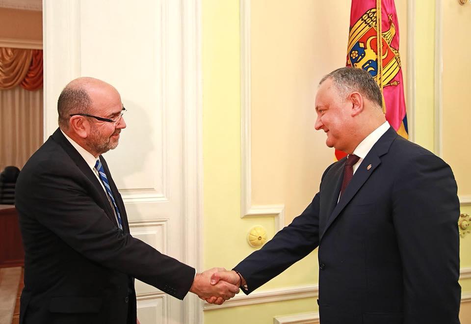 Президент выступил за интенсификацию торгового обмена между Молдовой и Израилем