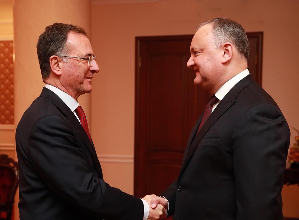 Игорь Додон обсудил важные вопросы со спецпредставителем Председательства ОБСЕ Франко Фраттини (ФОТО)