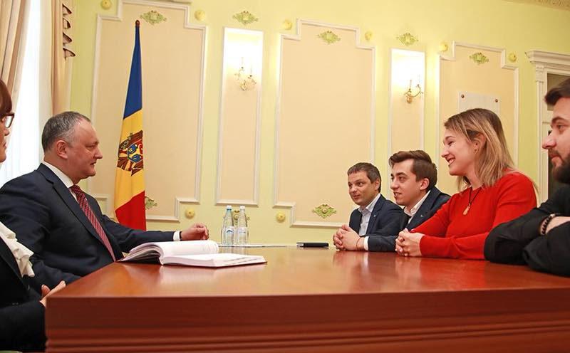 """Президент приветствовал инициативу группы """"DoReDoS"""" организовать турне в странах с молдавской диаспорой"""