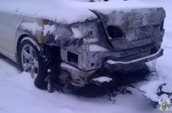 В Бендерах сгорел BMW: улики указывают на поджог (ФОТО)