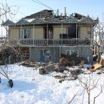 В селе Костешты произошёл сильный пожар: сгорел двухэтажный дом (ФОТО)