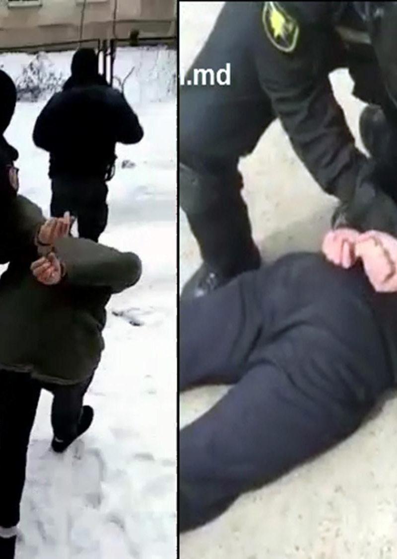 Задержание посреди улицы мужчины, пытавшегося ограбить валютку на Ботанике, попало на видео