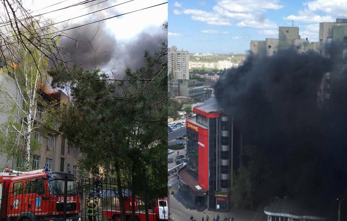 Оба разрушительных пожара в Кишиневе локализованы