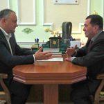 Президент обсудил благоустройство Тараклии с ее председателем