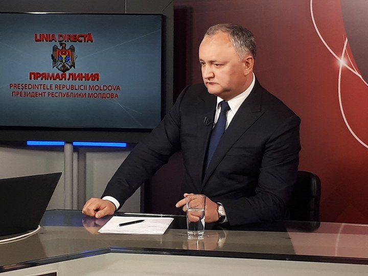 """Додон ответит на вопросы граждан в рамках """"прямой линии"""" (ВИДЕО)"""