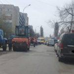 На столичной улице Соколень из-за дорожных работ затруднено движение
