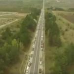 Движение машин у Дойны показали с высоты птичьего полета (ВИДЕО)