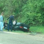 ДТП в Хынчештах: машина вылетела в кювет и перевернулась (ФОТО)
