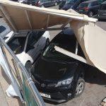 В Кишиневе терраса торгового центра рухнула на парковку