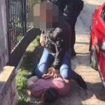 Задержание двух членов группировки вымогателей попало на видео (ВИДЕО)