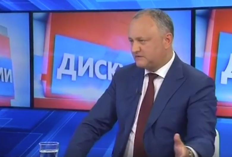 """Додон о Воронине: он как минимум 3 раза """"слил"""" будущее Молдовы и свою партию (ВИДЕО)"""
