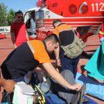 Экипаж SMURD доставил в Кишинев на вертолете мужчину с инфарктом (ФОТО, ВИДЕО)