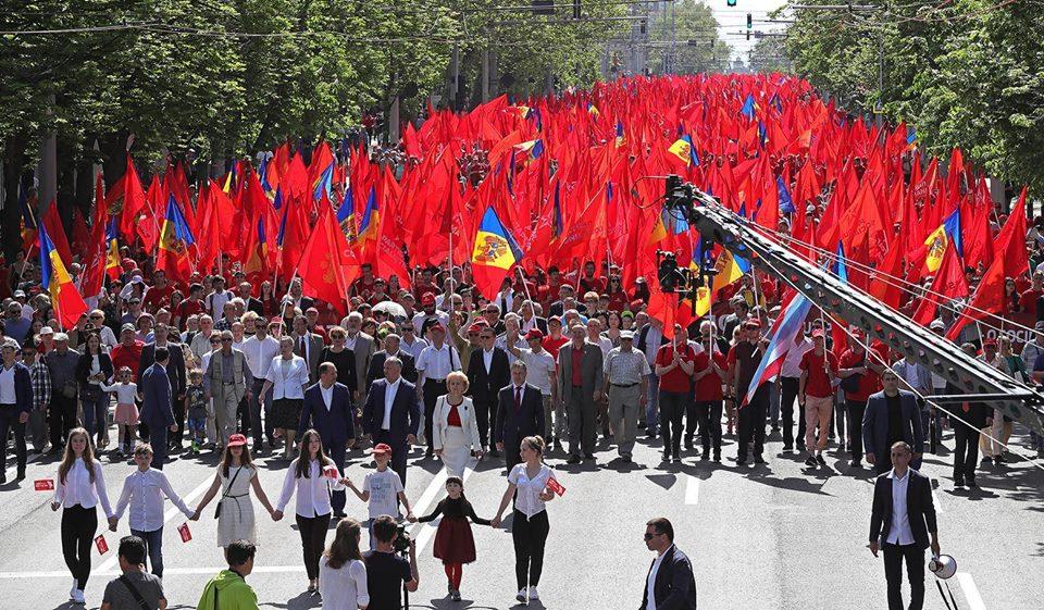 К социальной справедливости через местные и парламентские выборы и президентскую республику: социалисты провели Первомай в Кишиневе (ФОТО)