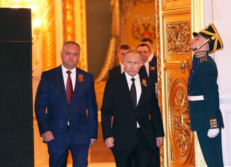 Додон – Путину: Наш народ ценит дружбу с Россией и дорожит ею