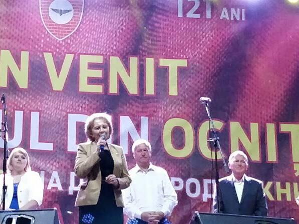 Зинаида Гречаный приняла участие в праздновании Дня города Окницы, организованном ПСРМ (ФОТО)