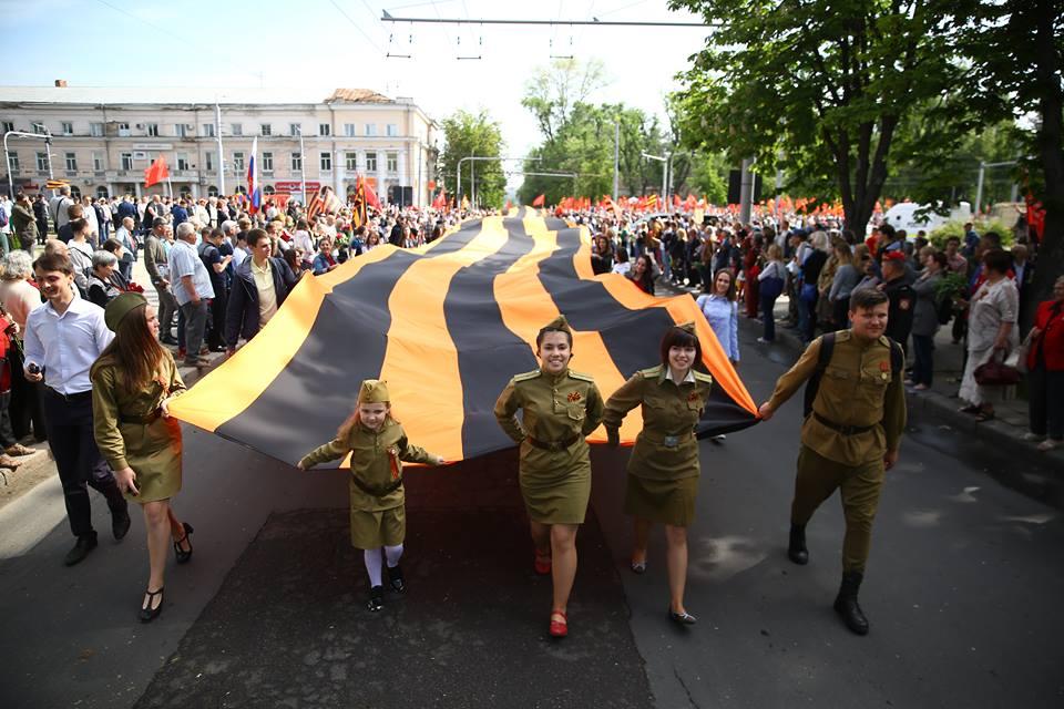 Рекордный Марш Победы в Кишиневе: 100 тысяч граждан встали в строй единой колонны наследников победителей (ФОТО, ВИДЕО)