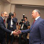 Додон встретился в Сочи с новым премьер-министром Армении (ФОТО, ВИДЕО)