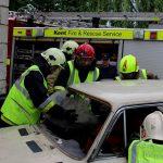 Учения в Единцах: спасатели вызволили водителя, застрявшего в автомобиле после ДТП (ФОТО, ВИДЕО)