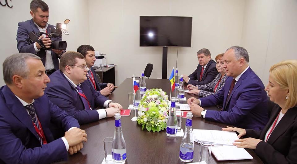 Додон: Российские бизнесмены готовы создавать в Молдове новые рабочие места