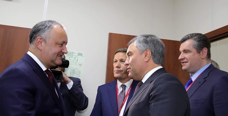 Додон обсудил важные вопросы молдо-российского сотрудничества с председателем Госдумы РФ (ФОТО)