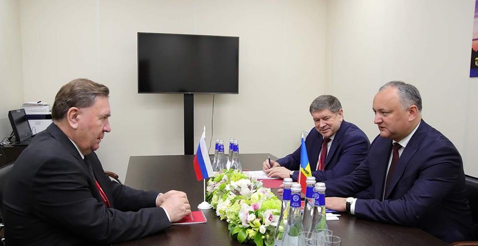 Додон: Взаимоотношения Республики Молдова с Курской областью России будут расширяться