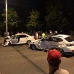 (ОБНОВЛЕНО) Жуткое ДТП в столице: столкнулись три машины, две из которых – такси (ФОТО)