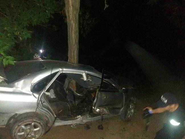 ДТП в Рышканском районе: водитель не справился с управлением и врезался в дерево (ФОТО)