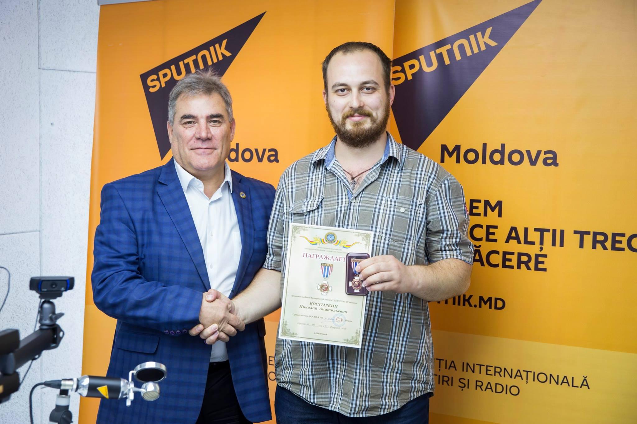 """Корреспондент Sputnik награжден медалью """"афганцев"""" Молдовы"""