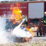 Противопожарную службу аэропорта проверили на уровень подготовки (ФОТО)