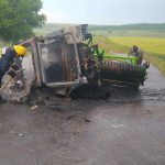 Водитель сгоревшего в Гагаузии трактора попал в реанимацию с ожогами 40% тела (ФОТО)