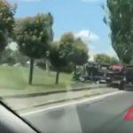 В Кишиневе перевернулась машина Autosalubritate (ВИДЕО)