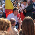 Киртоакэ притащил на митинг Нэстасе и Санду румынский флаг (ФОТО)