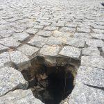 Детище Киртоакэ трещит по швам: на знаменитой улице Дога образовалась дыра (ФОТО)
