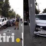 В Кишинёве водитель без прав протаранил автомобиль охранной службы (ВИДЕО, ФОТО)