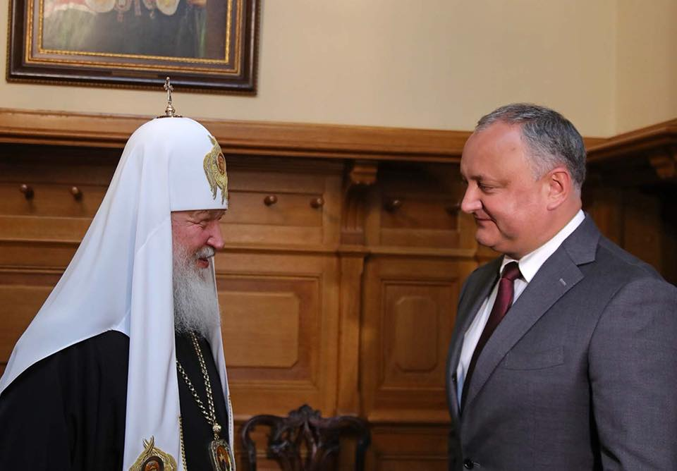 Igor Dodon met in Moscow with Patriarch Kirill