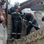 Спасатели показали, как доставали мужчину из-под развалин дома в Дурлештах (ФОТО, ВИДЕО)