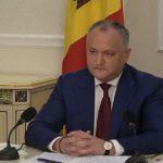Додон: Новый парламент должен стать центром объединения граждан страны во имя успешного строительства государства Республика Молдова