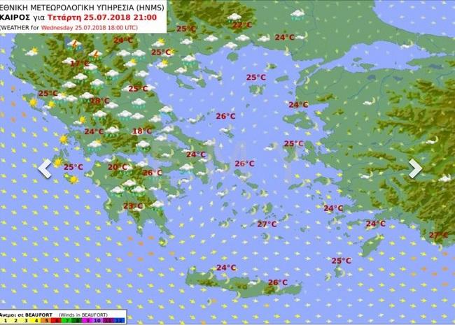 На заметку туристам, собирающимся в Грецию: ливни и шквалистый ветер сменят жару