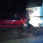 Серьёзная авария в Гагаузии: водитель легковушки врезался в припаркованный автобус