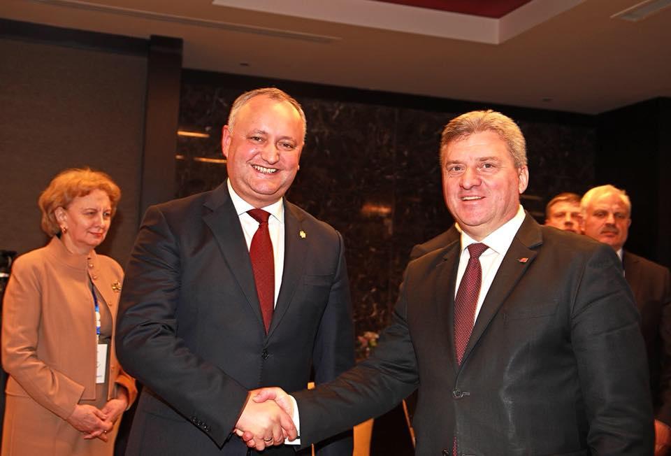 Президент Македонии совершит официальный визит в Молдову по приглашению Игоря Додона