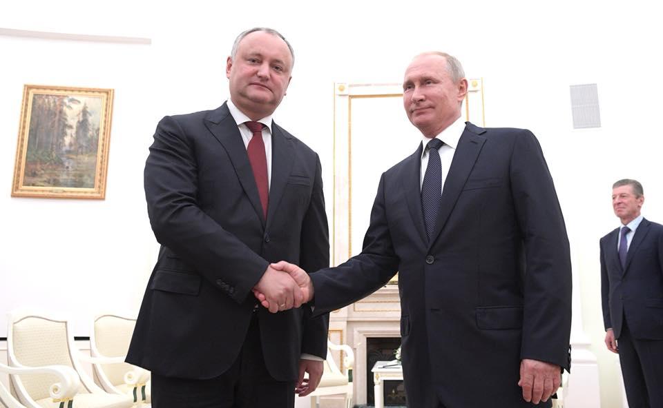 Додон и Путин встретились в Кремле: о чем говорили президенты Молдовы и России