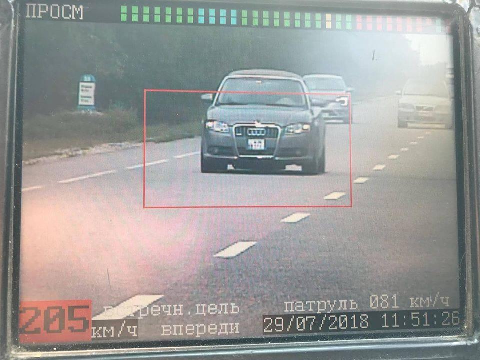 Молдавского «Шумахера» со скоростью 220 км/час поймали на трассе